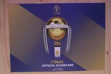 2019 Cricket World Cup Final - Official Score Card England v New Zealand @Lords