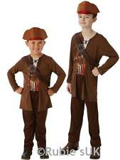 Boys Child Jack Sparrow Fancy Dress Costume Caribbean Pirate Salazars Revenge