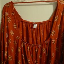New w/ Tags - Old Navy Sexy Red Southwest Textile design Plus 4X