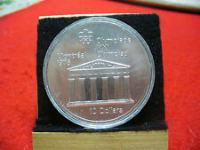 1976 MONTREAL OLYMPICS SILVER 10$ COIN CANADA -TEMPLE OF ZEUS   B.U.