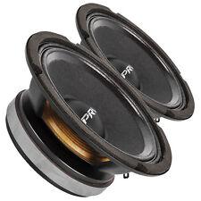 "Pair PRV Audio 6MB200 6.5"" Midbass Woofer Speaker 8 ohms 200W 93 dB 1.5"" Coil"