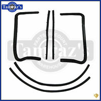 55-57 Chevy HARDTOP/CONV Vent Glass Wing Window WEATHER STRIP Kit - PAIR