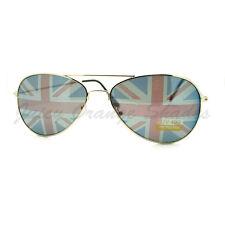 UK Great Britain Flag Print Lens Aviator Sunglasses Union Jack
