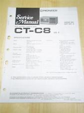 Pioneer Service Manual~CT-C8 Cassette Tape Deck~Original~Repair