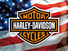 Harley Davidson Stars/ Rayas Grande Relieve Acero Signo 400mm x 300mm (Na )