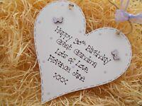 Great Grandma Butterfly Birthday Gift Wooden Heart Plaque Keepsake Gift