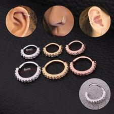 6/8mm Nose Ring CZ Hoop Copper Earring Snug Piercing Fashion Body Jewelry Unisex