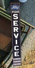 """Ford Service Large 42"""" Wood Cars Trucks Tractors Truck Mustang Garage Gas Oil"""