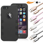 iPhone 7/7+/6/6+/6s/6s+/5/5s/5c/SE MFI Lightning Cable+iPhone 6s plus Armor Case