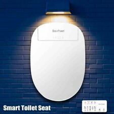 Smart Toilet Seat Cover Electric Bidet Heated LED Light Automatic Deodorization