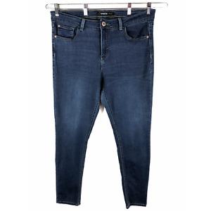 Jordache Womens Plus Size 18W Jeans Blue Skinny Denim Cotton Stretch Pockets