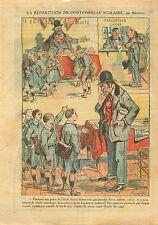 Caricature Anti Maçonnique Ecole Catholique/Laïque Scolaire 1921 ILLUSTRATION