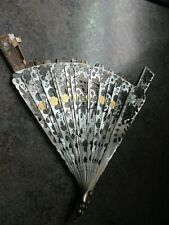 Antique French Mother of Pearl Pierced Fan