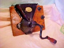 COFFEE MILL ANTIQUE VICTORIAN PAT. 1855-60 J & E PARKERS BEAM MOUNTED RESTORED