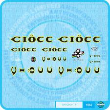 Ciöcc / Ciocc Decals Bicycle Transfers Stickers - Set 1