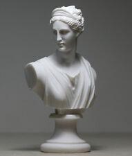 ARTEMIS DIANA  Bust Head Greek Roman Goddess Statue Handmade Sculpture 5.91 in