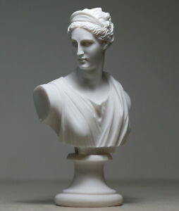 ARTEMIS DIANA Bust Head Greek Roman Goddess Statue Handmade Sculpture 5.91inches