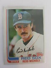 1982 Topps Reid Nichols #123 Red Sox SIGNED