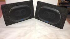 "2)Sparkomatic Series 8000 6""x9""Car Speakers+2)Angled 6x9""Spk Boxes RARE  VINTAGE"