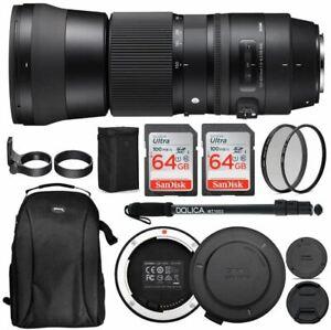 Sigma 150-600mm 5-6.3 Contemporary DG OS HSM Lens for Canon DSLR Cameras USB Doc