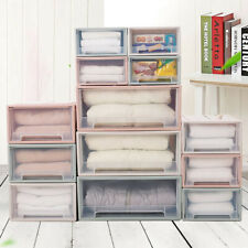 20-5L Storage Clear Drawer Shoe Box Organiser Stackable Foldable Home Wardrobe i