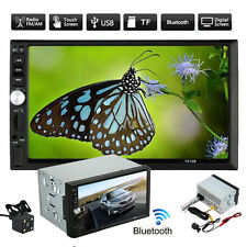 """7"""" Double 2DIN Bluetooth Touch Screen Stereo Radio HD Car MP5 MP3 Player Camera"""
