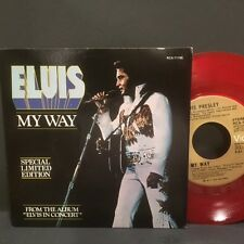 "Elvis Presley ""My Way"" import on Red Vinyl 45rpm w/ PS  NM Condion Store Stock"