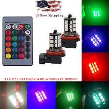 2pcs 7-Color Rgb 5050 27Smd Led Fog Light Bulbs Kit Wireless Remote H8/H11(Fits: Neon)