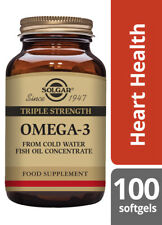 Solgar Triple Strength Omega 3 Cold Water Fish Oil 2800mg EPA1008mg DHA756mg 100