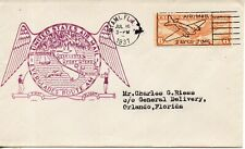USA 1937 FIRST FLIGHT COVER  EVERGLADES AIR MAIL ROUTE 31