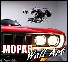 PLYMOUTH CUDA MOPAR VINTAGE DESIGN  ABSTRACT WALL ART GRAPHIC VINYL STICKER