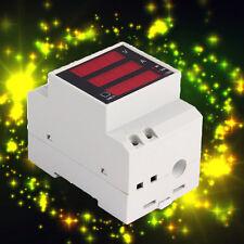 AC 80-300V Digital Din Rail Current Voltage Power Meter Ammeter Voltmeter 100A@A
