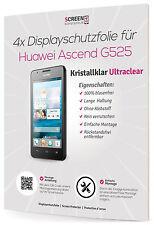 4x Displayschutzfolie für Huawei Ascend G525 Clear Schutzfolie 3-lagig Klar