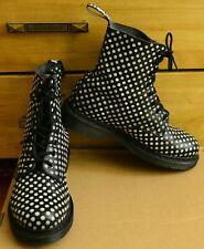 Dr Martens Pascal, Women's black white dots Shoes, Size UK 6.5, EU 40