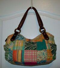 Fossil Genuine Classic 1954 purse tote shoulder bag multicolor canvas patchwork