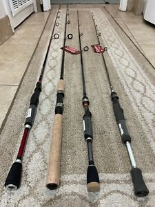 Lot of 4 rods Quantum , Shimano , Zebco