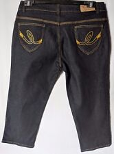 "WOMEN'S JEANS Q-JEANS CROP STRETCH SIZE 14/32"" LEG 20"" NWOT FREE POSTAGE"