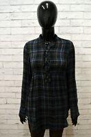 Camicia GAS Donna Taglia Size S Maglia Blusa Shirt Manica Lunga a Quadri Vinatge