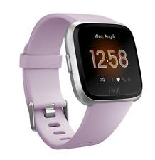 Fitbit Versa Lite Fitness Tracker Smartwatch Heart Rate Lilac Silver Aluminum