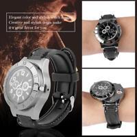 1stk Armbanduhr USB Feuerzeug Wiederaufladbar Uhr Zigarettenanzünder Leichter