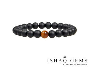 Natural Tiger Eye Stone and Agate Stones Beaded Men's Bracelet Gift's For Him
