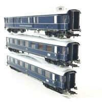 FLEISCHMANN 5843, 5840 K HO GAUGE - GERMAN DB BLUE TRAIN EXPRESS 3 CAR SET