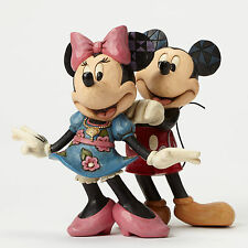 Jim Shore Disney Traditions Mickey & Minnie Necklace For My Sweetheart 4046042