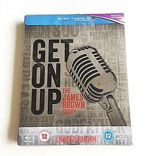 Get on Up The James Brown Story Blu-ray SteelBook [UK] Embossed Edition! MINT!