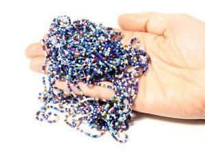Lot (56g) vintage Czech rainbow mixed seed glass beads 18bpi