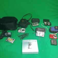 Nikon Sony Kodak canon cameras bags chargers batteries more Lot of 6