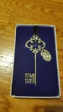 25th Anniversary Key Keepsake silver  Religious Inspirational ornament gift