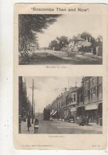 Boscombe Then (in 1876) And Now Vintage Postcard JE Beale / Peacock 650b