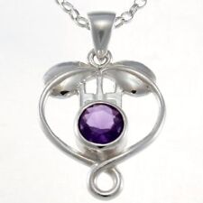 Unbranded Amethyst Sterling Silver Fine Necklaces & Pendants