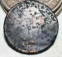 1797 Draped Bust Large Cent 1C Worn Date Ungraded Early US Copper Coin CC7067